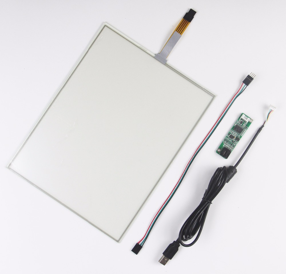 12.1inch 260.8x203.2mm 4Wire Resistive Touch Screen Panel USB kit for monitor 19 inch infrared multi touch screen overlay kit 2 points 19 ir touch frame