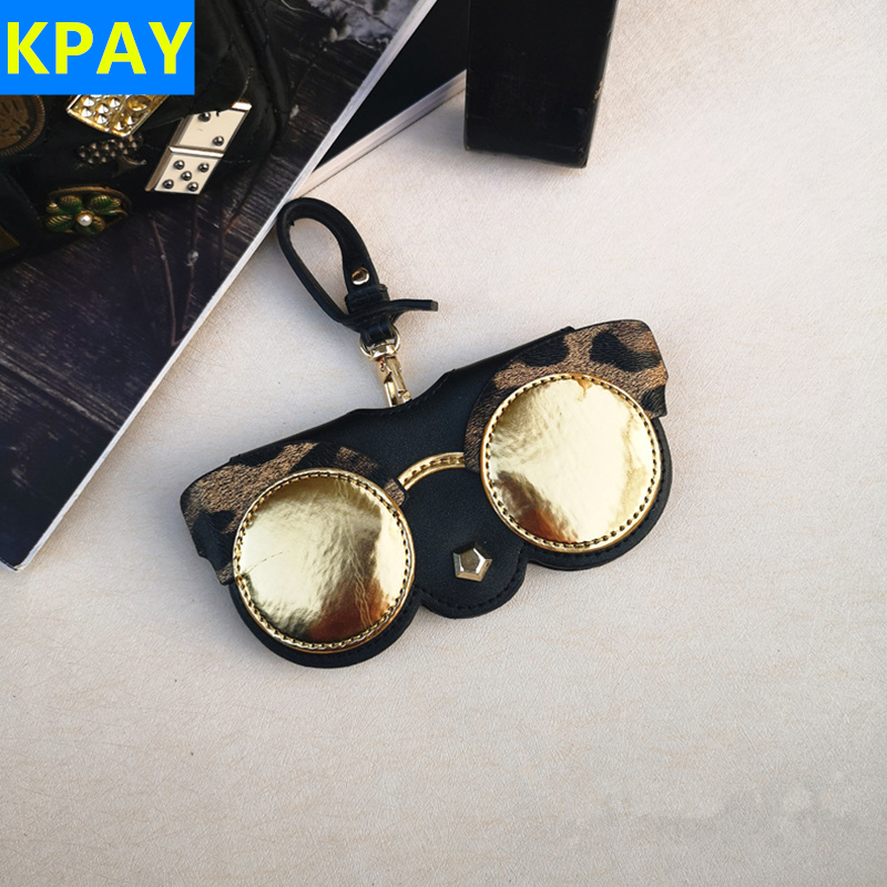 KPAY Cartoon Multi-function Unique PU Leather Glasses Bag Eyeglasses Case Women Sunglasses Storage Protection Ins Popular Cute