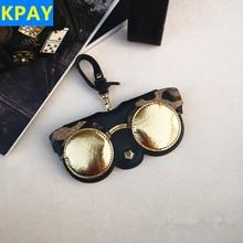 KPAY Cartoon Multi-function Unique PU Leather Glasses Bag Eyeglasses Case Women Sunglasses Storage Protection Ins Popular Cute
