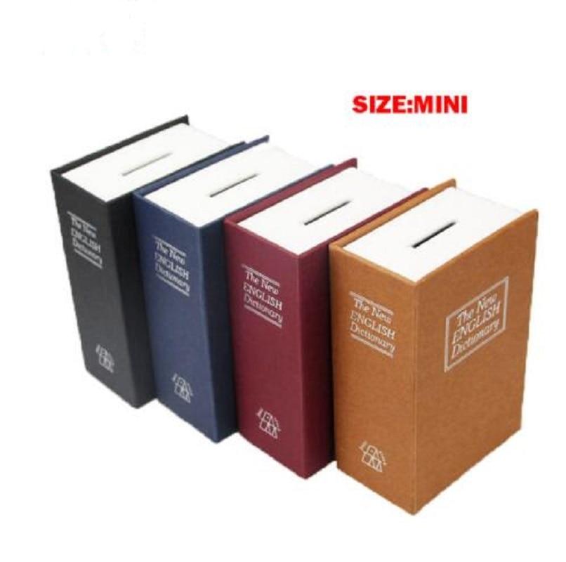 Metal Mini Cash Secure Hidden English Dictionary Money Box Coin Storage Books Safe Secret Piggy Bank 11.5*8*4.5CM