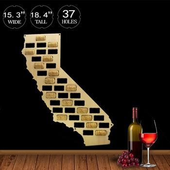 California Wine Cork Display Wall Map