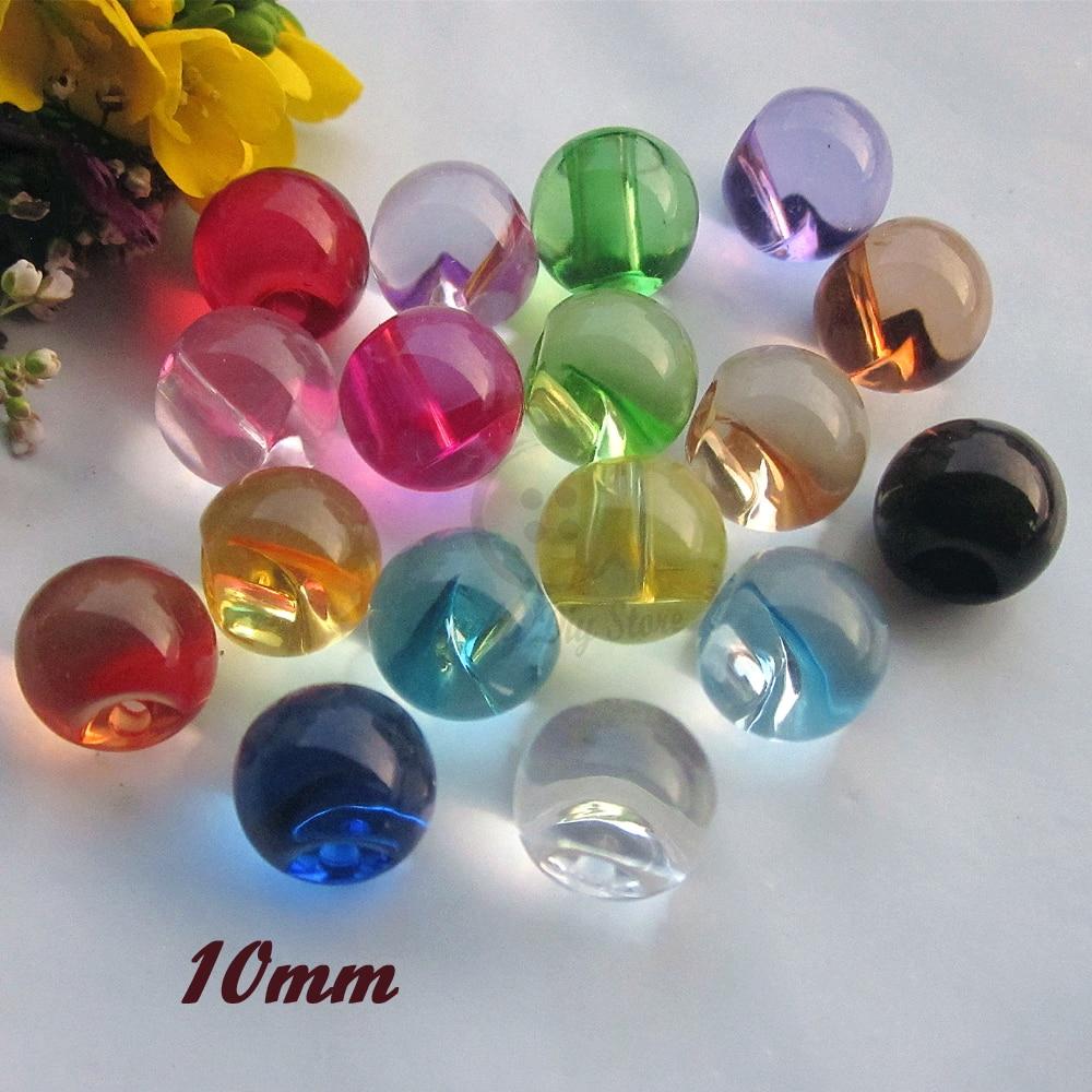 10 pcs Acrylic buttons 11mm 10mm White Transparent color acrylic mushroom 90