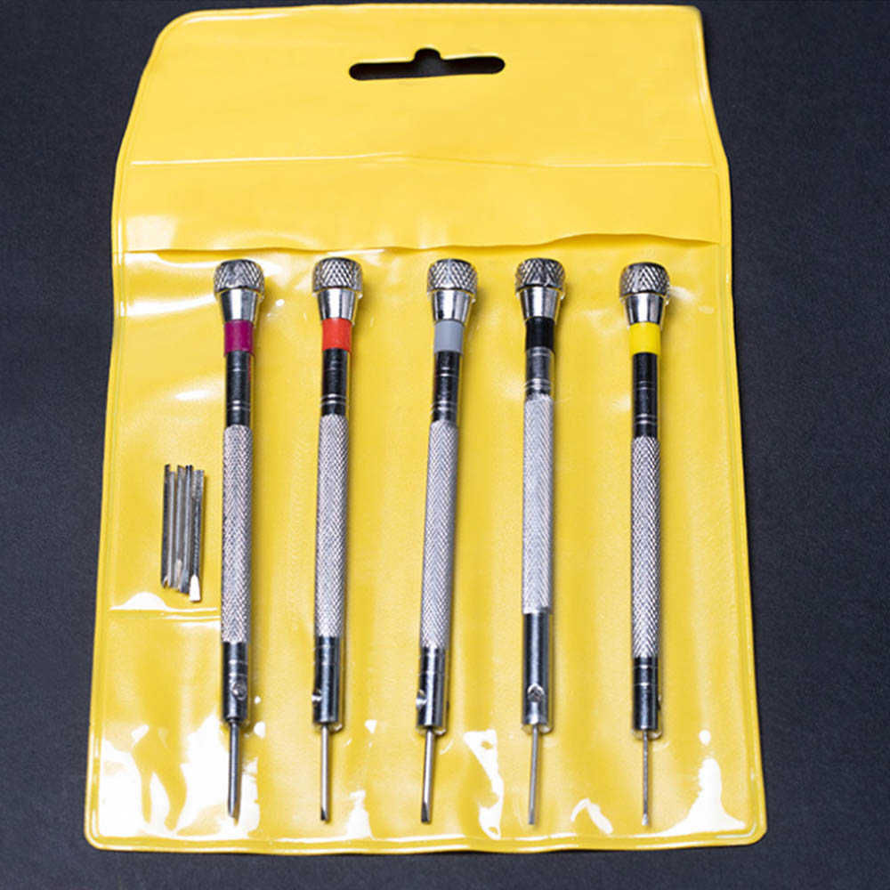 5pcs 0.8-1.6mm Precision Mini Small Screwdriver Set With Slotted Phillips Bits For Watch Glasses Screw Driver Repair Tools