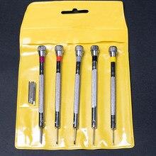 5pcs 0.8-1.6mm Precision Mini Small Screwdriver Set with Slotted Phillips Bits f