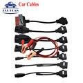 2016 Nova chegada conjunto completo tcs CDP cabos carro TCS 8 cabos com cabo de Interface da Ferramenta de diagnóstico do carro frete grátis