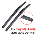QEEPEI 26''+16'' Inch Car Windshield Wipers For Toyota Auris 2Pieces/Pair 2007-2012 Iso9000 Brush Car Accessories CPU703