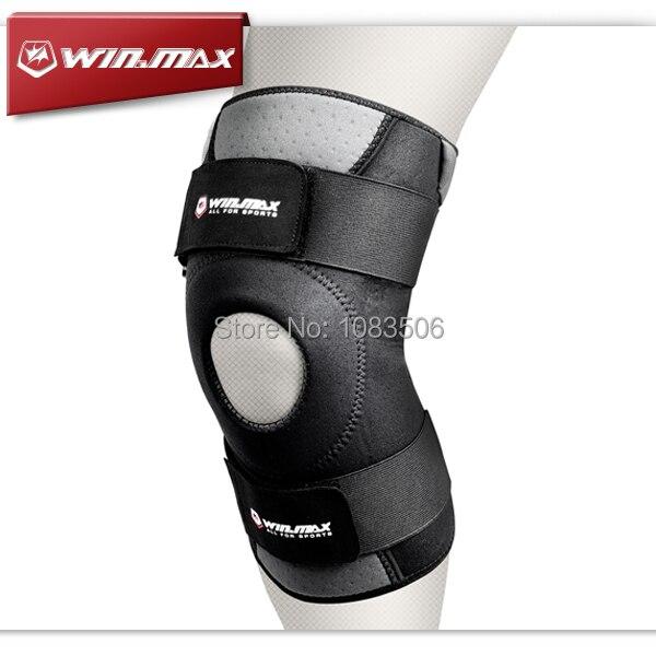 WINMAX Neoprene Elastic Open Patella Adjustable Basketball Kneepad Rodilleras Soutien Joelheira Knee Protector Support Pad Brace недорго, оригинальная цена