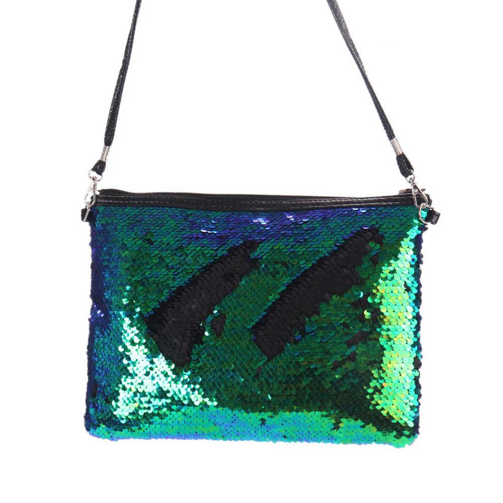 ... Sanwood Fashion Women Crossbody Shoulder Bag Glitter Reversible Sequins  Lady Small Envelopes Messager Bag Clutch Slim ... a69f7d47eaae