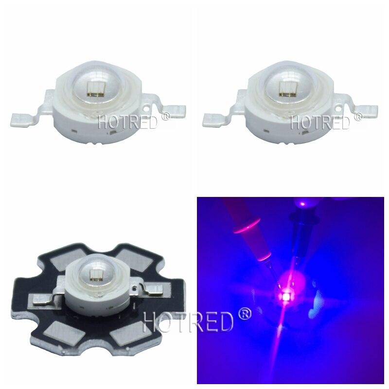 50 pz 100 pz 3 w UV Ad Alta Potenza LED Chip di Luce diodo 395nm 400nm Viola Ultra Violet per la Nail asciugatrice Valuta di Identificazione