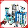 BELA 10424 City Police Station Motorbike Helicopter Building Block Compatible Legoe 890Pcs Toys For Children