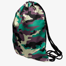 Drawstring Bags Women Camouflage Printed Drawstring Backpack bag 3DVintage College Students School Backpack Girls Female Sack Ba
