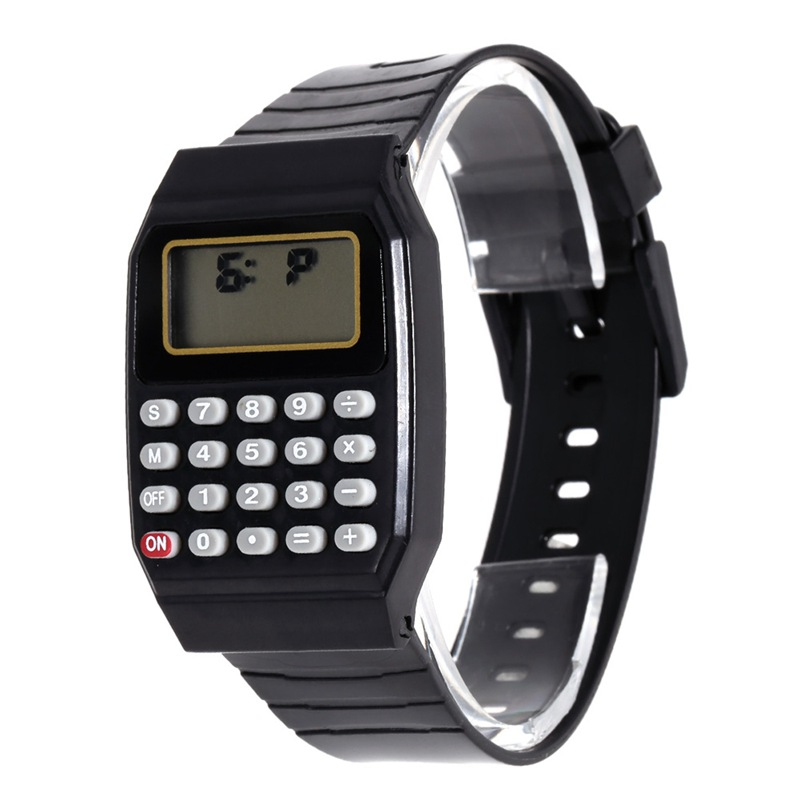 2018 Kids Calculator Watch LED Digital Watch Children Sports Wrist Watch Relogio Reloj Calculadora Hesap Makinesi Saat