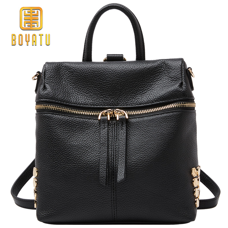 Luxury Women Leather School Backpack Sac A Dos Fashion Youth Backpacks Travel Bag Mochila Brand New Brand luyo brand crocodile alligator genuine leather female fashion vintage cool backpack mochila feminina sac a dos womens youth