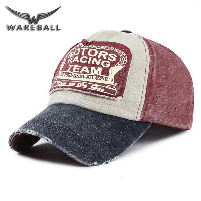 WAREBALL  Snapback Hats Wholesale Baseball Cap Spring Cotton Cap Hip Hop  fitted Cap Retro Hats for Men Women Summer Cap e968ae1cd00