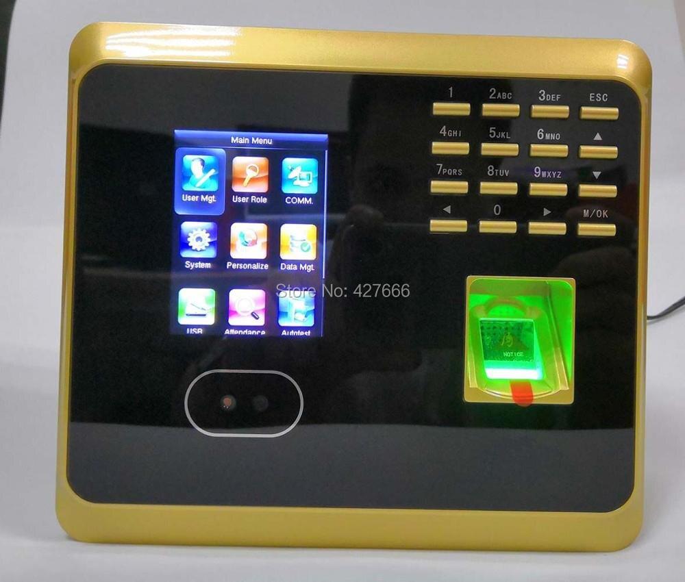 WiFi UF100 système de présence de temps d'empreintes digitales horloge de visage et d'empreintes digitales avec logiciel gratuit dispositif de présence des employés