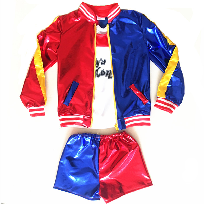 Filles Enfants Suicide Squad Harley Quinn JOKER Costume Cosplay - Costumes - Photo 2