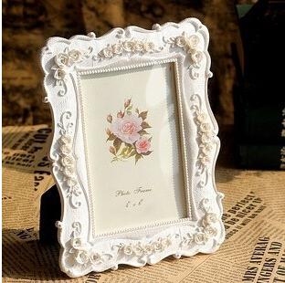 6inch white fashion vintage swing sets resin picture frame rustic photo frame horizontally upright free shipping