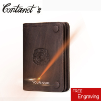 Vintage Brand Men S Wallet Crazy Horse Leather Wallet Slim Short Design Male Coin Purse Card