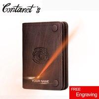 Vintage Brand Men S Wallet Crazy Horse Leather Wallet Slim Short Design Male Coin Purse Card