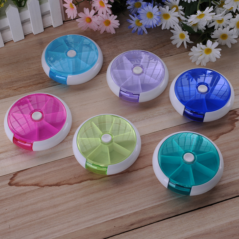 Portable Rotating Pillbox Travel Pill Case Pill Organizer Medicine Box Drugs Pill Container Outdoor Travel 7