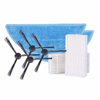 Accessories Parts Pack Sides Brush Mop Cloth HEAP Filter For ILIFE V3s V5 V5s Robotic Vacuum
