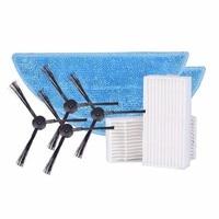 Accessories Parts Pack Sides Brush Mop Cloth HEAP Filter For ILIFE V3s V5 V5s Robotic Vacuum