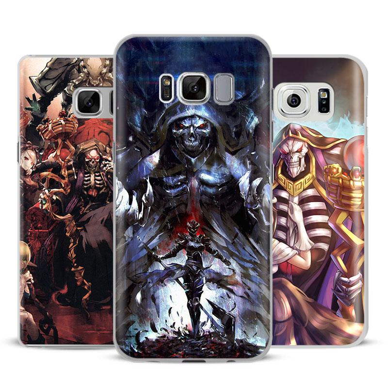 OVERLORD Anime Manga Phone Case Cover Shell For Samsung Galaxy S4 S5 S6 S7 Edge S8 S9 Plus Note 8 2 3 4 5 A5 A7 J5 2016 J7 2017
