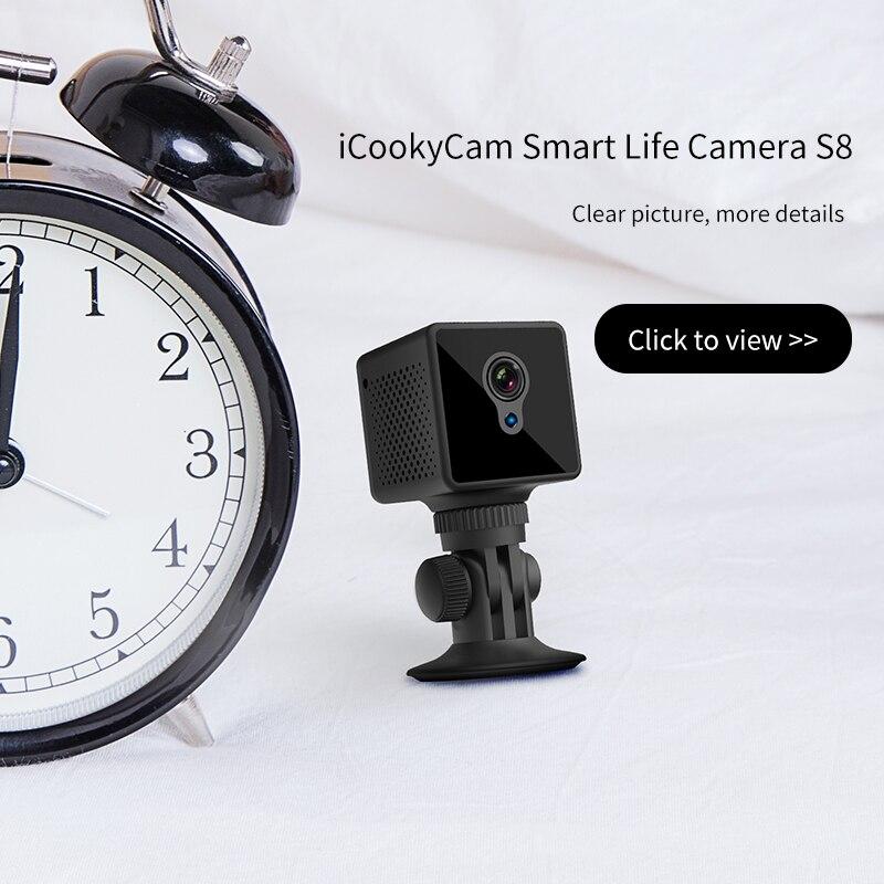 Image 3 - S8 Mini Câmera IP Wi Fi de Segurança Em Casa Câmera de Vigilância  de Rede Sem Fio Wifi Night Vision Baby Monitor Câmera 8 horas de  trabalhoCâmeras de vigilância