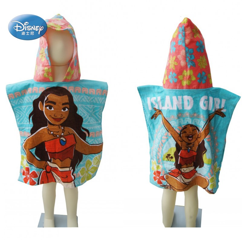 Disney Moana Wearable Hooded Soft Bath Towel for Kids Cotton Toddler Robes Wrap  Cover up for Shower Beach Swim Towel 50x115cm| | - AliExpress