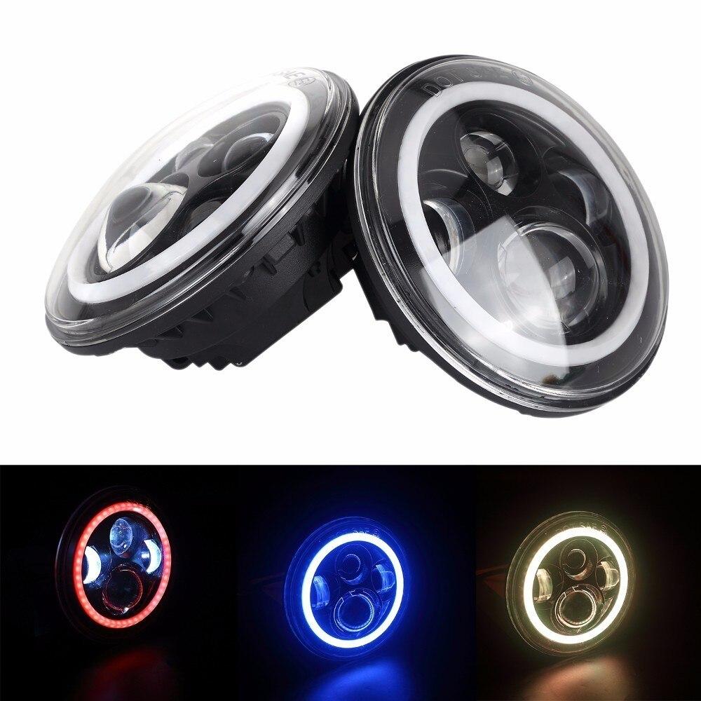 7 Inch Motorcycle Headlight 90W Led lights For harley moto 12V 24V for Jeep Wrangler jk car lights for faro led 12v Fog Lights