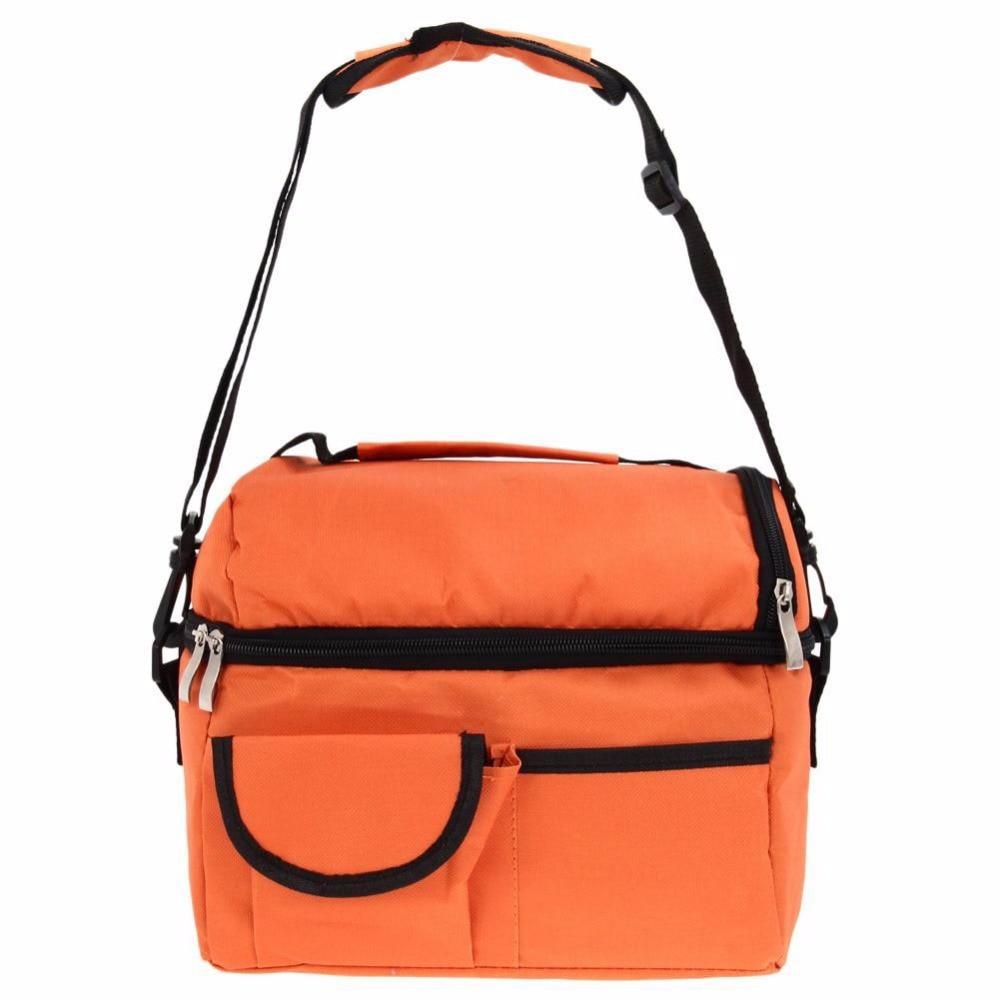 8L Square Thermal Bag Women Men Lunch Bag Cooler Beam Port Lunch Box Lady Handbag Children Kids Lunch Bags Insulation Package