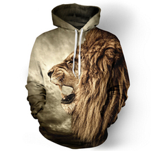 Fashion lion hooded shirts men/women printed 3d hoodies Casual graphic hoodie funny Sweat shirt tie-dye Sweatshirt tops S-5XL