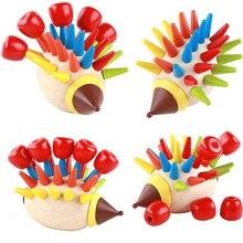 DIY магнитные красочные Ежик постучал игрушки деревянные строительные блоки Дети раннего детства образование MT45
