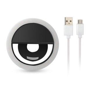 Image 2 - 36 LED, portátil, recargable, Flash de fotografía, luz de Selfie, lámpara luminosa, anillo de teléfono, luz de video nocturna