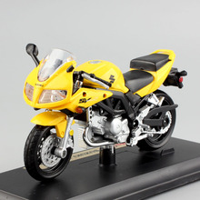 1/18 scale Children mini maisto miniaturas SUZUKI SV650S metal Diecasts & Toy Vehicles motorcycle street model car motorbike toy