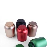 New Arrival Round Aluminum Medium Tea Tin Box Candy Storage Box Four Colors
