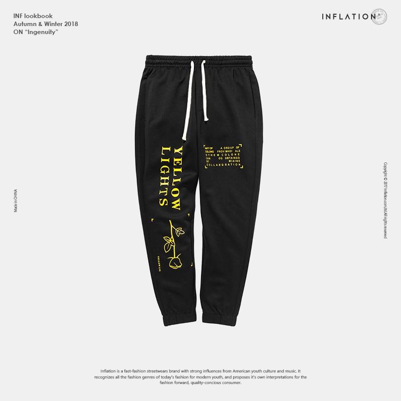 Image 5 - INFLATION Letter pringting sweatpants 2018 autumn streetwear male female pants hip hop trendy fashion track trousers 8835W    -