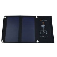 15W/5V/2.5A Frosted Waterproof Portable Folding Solar Panel Charger Dual USB Port Controller Pack for Pad Galaxy Phone Powerbank