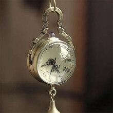 Retro Classic Bronze Quartz Ball Glass Pocket Watch Necklace Chain Steampunk Supper Enjoyable Scorching relogio feminino Watchjan19