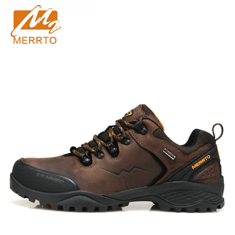 2017 MERRTO Men Walking Shoes M2-TEC Waterproof Outdoor Shoes Full-grain leather For Men Free Shipping 18216
