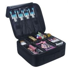 Professionelle Make-Up Fall Veranstalter Make-up-Box Künstler Größeren Taschen Oxford Koffer Reise Make-up Boxen Bequem Kosmetik beutel