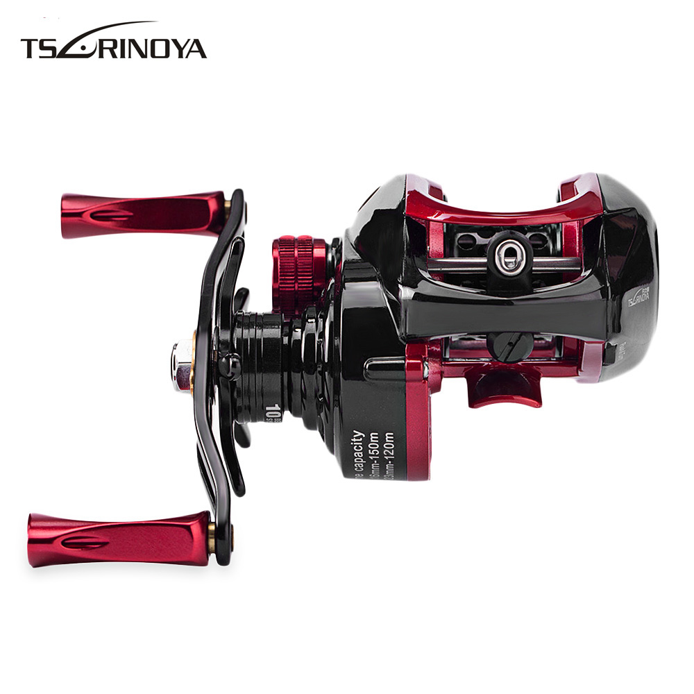 Tsurinoya XF - 50 6.6:1 Fishing Reel Left / Right Hand Metal Deep Spool 9 + 1BB Water Drop Wheel Ulttra Light Bait Casting ts1200 fishing reels right left hand bait casting fishing reel lure reel pro 14 ball bearings fishing gear water drop wheel