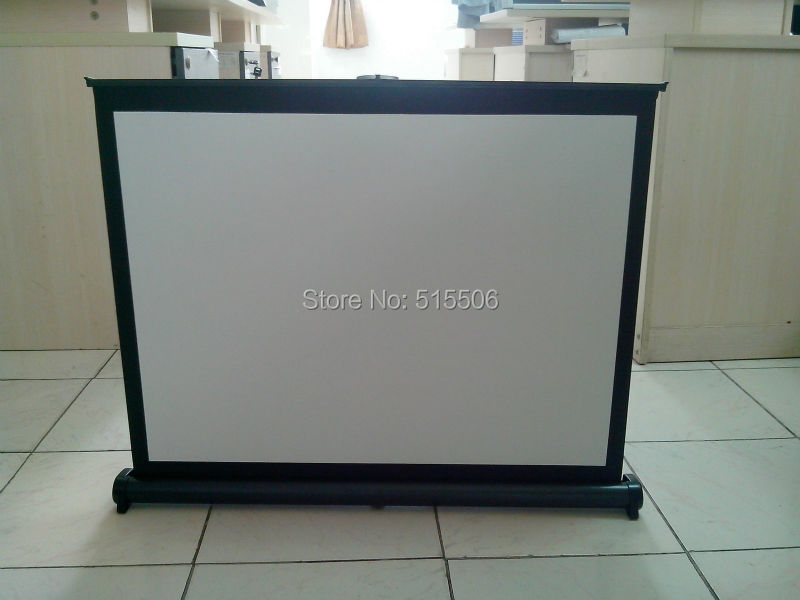 40inch flexible mini desktop projector screen portable roll up projection screen made of matt white material projection screenin projection screens from