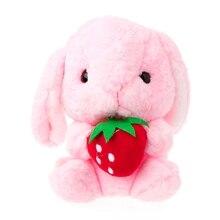 Kids Cute PlushToy Soft Long Ears Bunny Fluffy Rabbit Animals Doll Birthday Gift