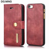 Vintage Leather Magnetic Back Cover Cases For Apple IPhone 5s Case Flip Cover Mobile Phone Shell