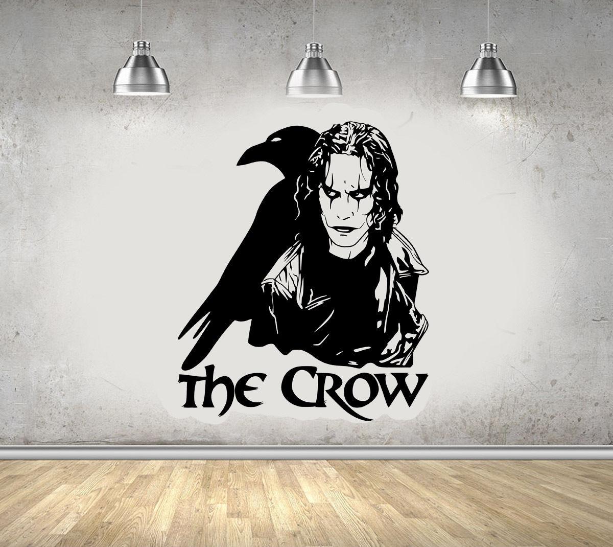 The Crow Gothic Movie Brandon Lee Legend Wall Art Sticker