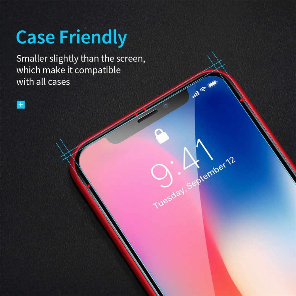9 שעתי מזג זכוכית סרטים עבור iphone מגן מסך X מגן משמר סרטי כיסוי קייס + זכוכית משוריינת עבור iphone x ערכה נקייה 10