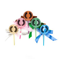 50 100pcs Lollipop Package 3D Mink lashes Empty Box Mink Eyelashes Extension Hot Sale Faux Strip Empty Lash Box Free Shipping