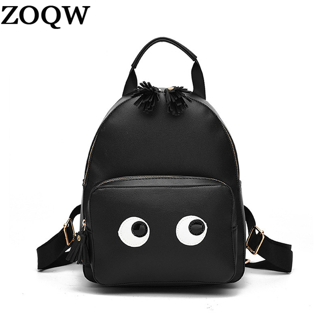 ZOQW Fashion Leather Backpack Female Small Backpacks For Teenage Girls  Preppy Student School Bag Travel Bagpack 00da3be832