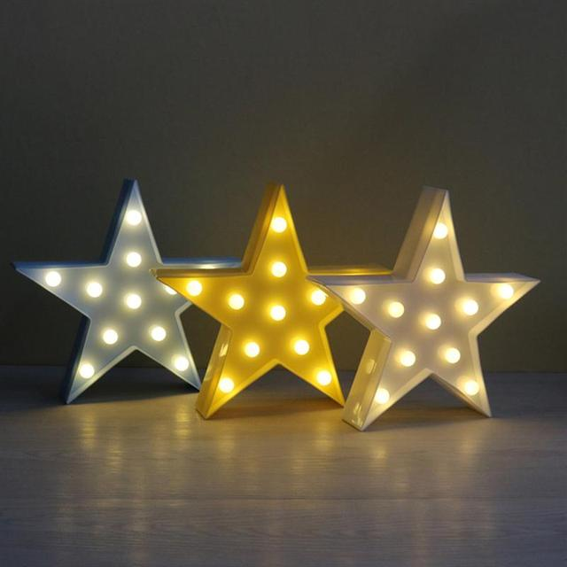 11 Leds Star Shaped Light Led Lamp Night Battery Operated For Christmas Home Wedding Party